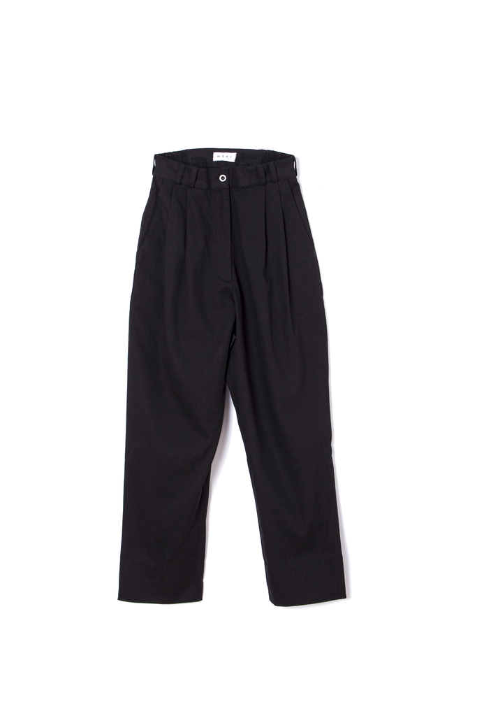 Wray, fielding pant, black, high-waist, pleated front