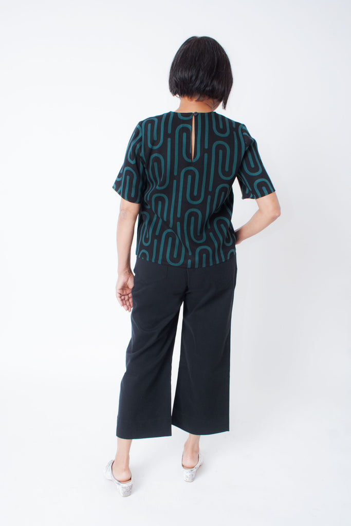 High Waisted Pants (Petite) - Black