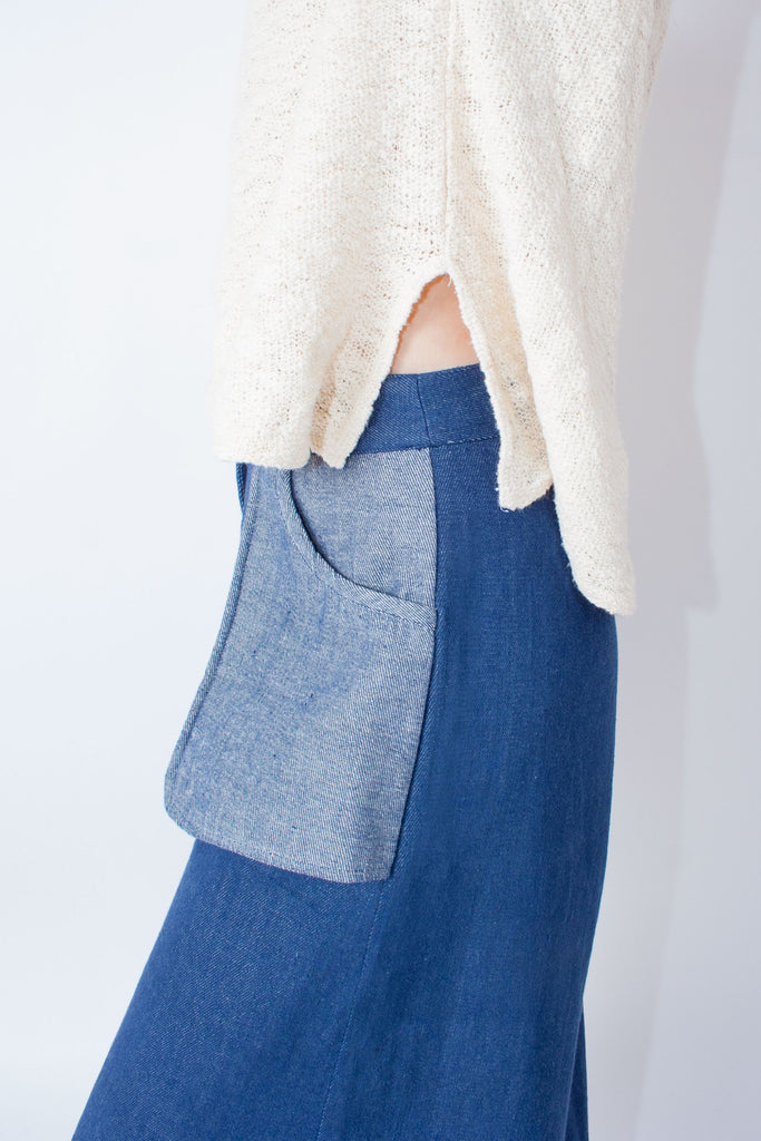 Pocket Pant (Petite) - Indigo - EXCLUSIVE