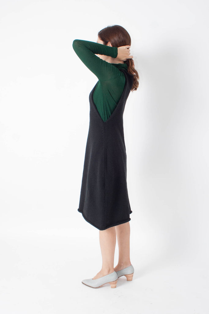 Mason Sweater Dress - Black - EXCLUSIVE
