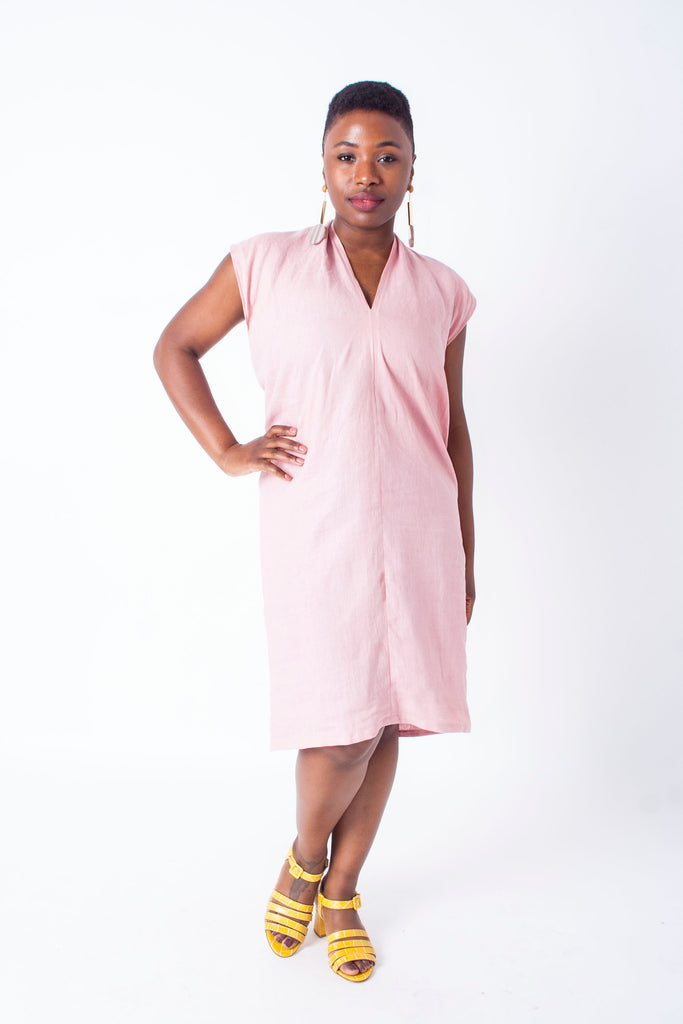 Everyday Dress by Miranda Bennett - petite exclusive in provence linen