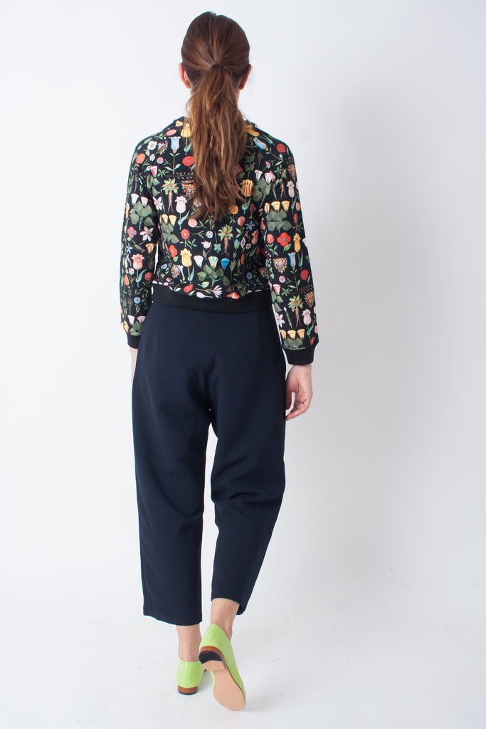 Kaarem Sua Tapered Trouser Pocket Pant - Black Blue