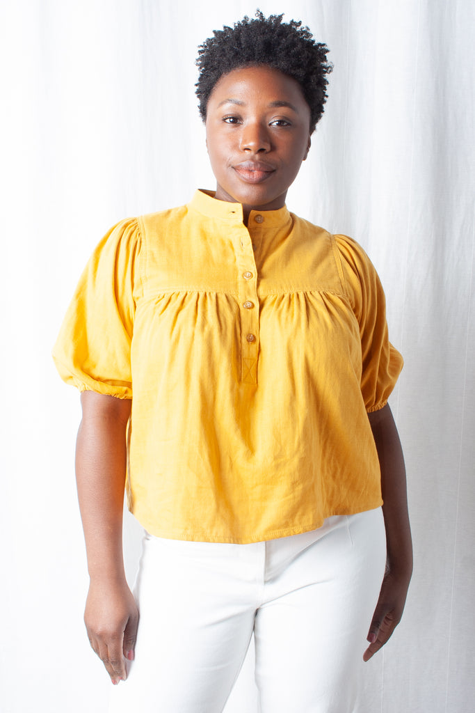 Loup - Grace Top (Petite Exclusive) - Canary