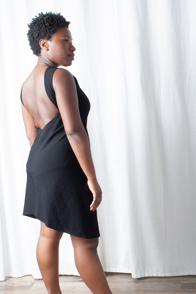 Kaarem - Beryl Low Back Dress - Black at STATURE | statuenyc.com