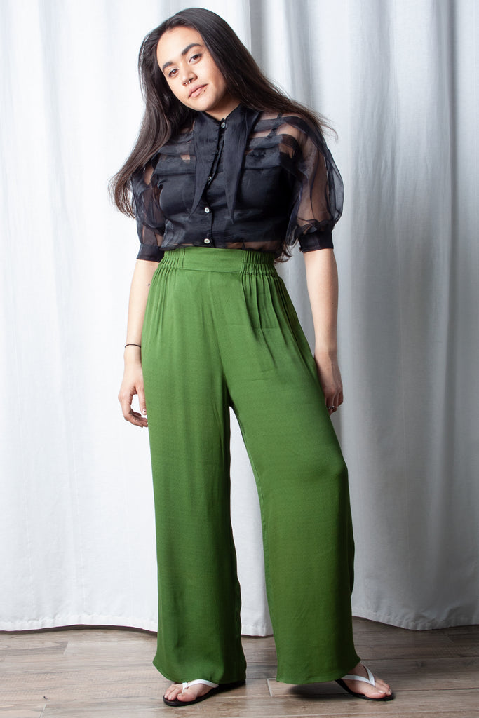 Hannah Kristina Metz Wessex Pant in Moss Green at STATURE | staturenyc.com
