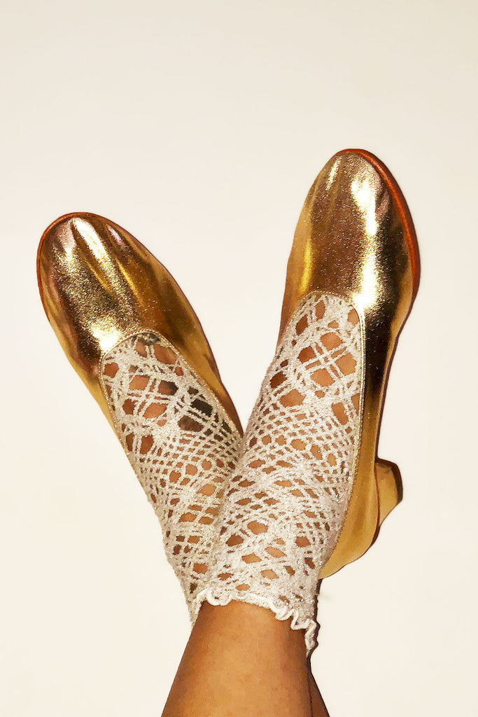 High Glove Shoe - Gold