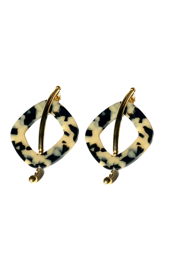 Rachel Comey - Realm Earrings - Dalmatian-Gold | Stature