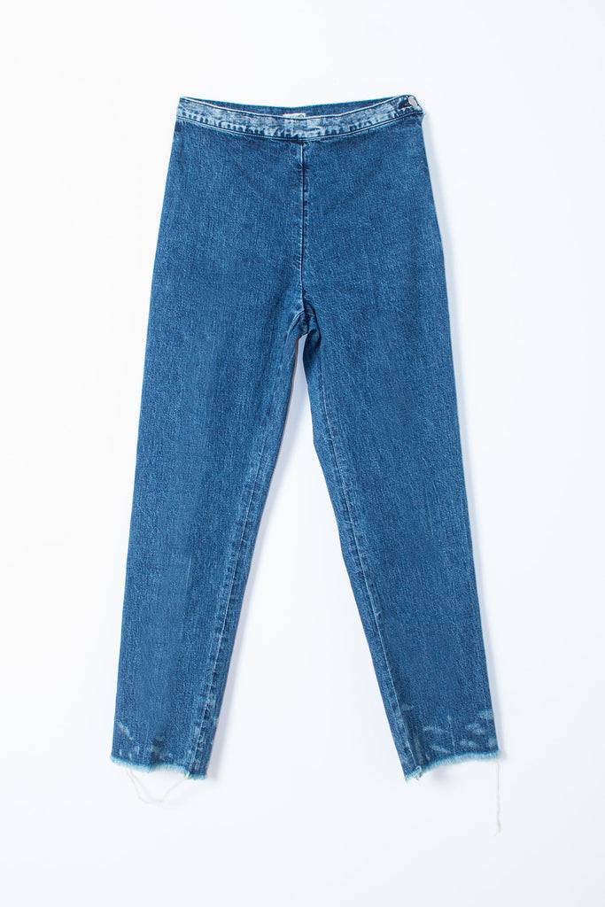 Rachel Comey high-rise, slim-fit, straight leg, raw hem The Fletcher Jean in Indigo