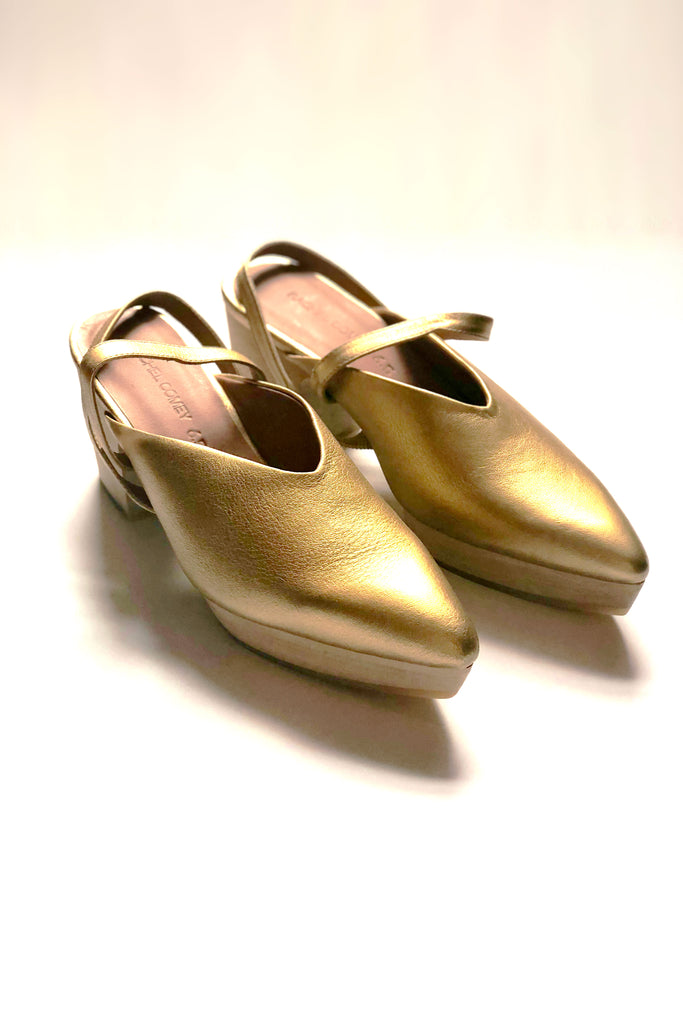 Rachel Comey Level Slingback - Gold Distressed Leather