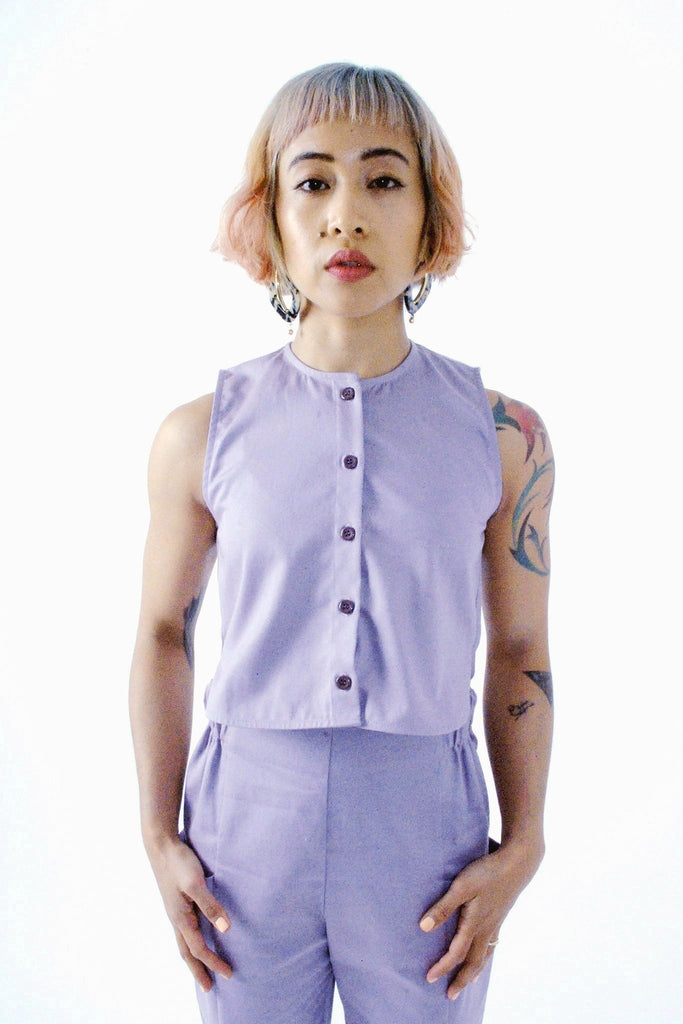 Ranchos Top - Lilac Twill