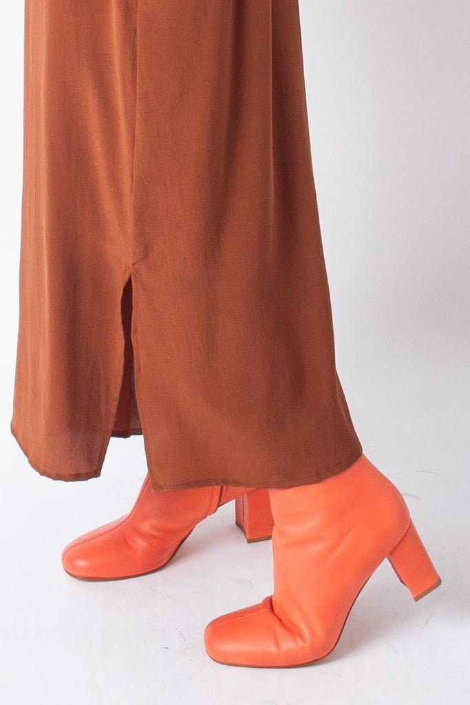 Maryam Nassir Zadeh MNZ Agnes Boots in Flame Orange at STATURE | staturenyc.com