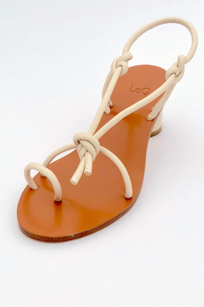 LOQ - Xavi Sandal in Crema in Sizes 35-37 at STATURE | staturenyc.com