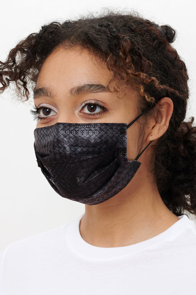barriere Dot & Basketweave Medical Grade Masks - Adult Size - 10-Pack at STATURE | staturenyc.com