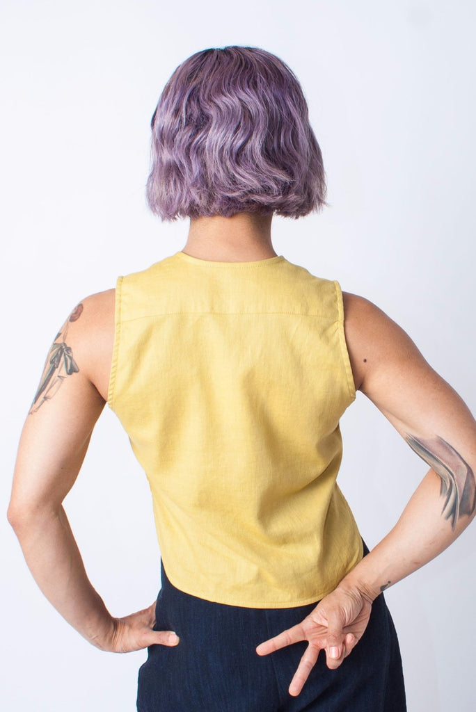In God We Trust Yellow Ranchos Crop Top
