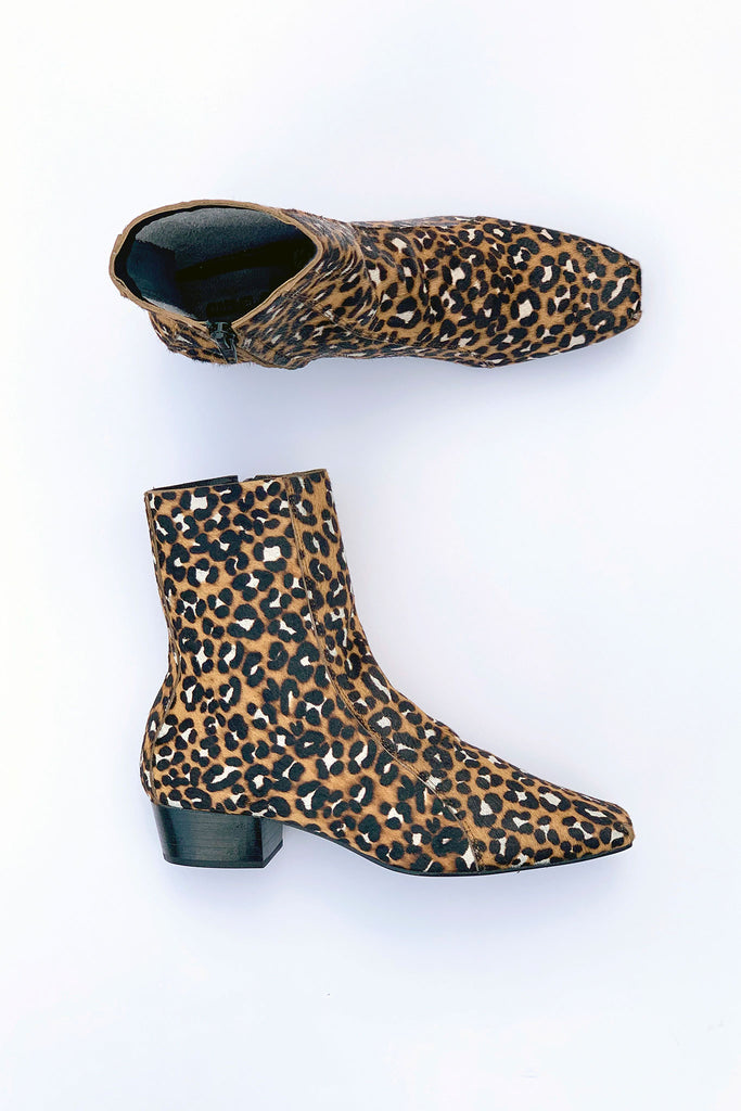 Rachel Comey Cove Boot in Leopard Calf Hair at STATURE | staturenyc.com