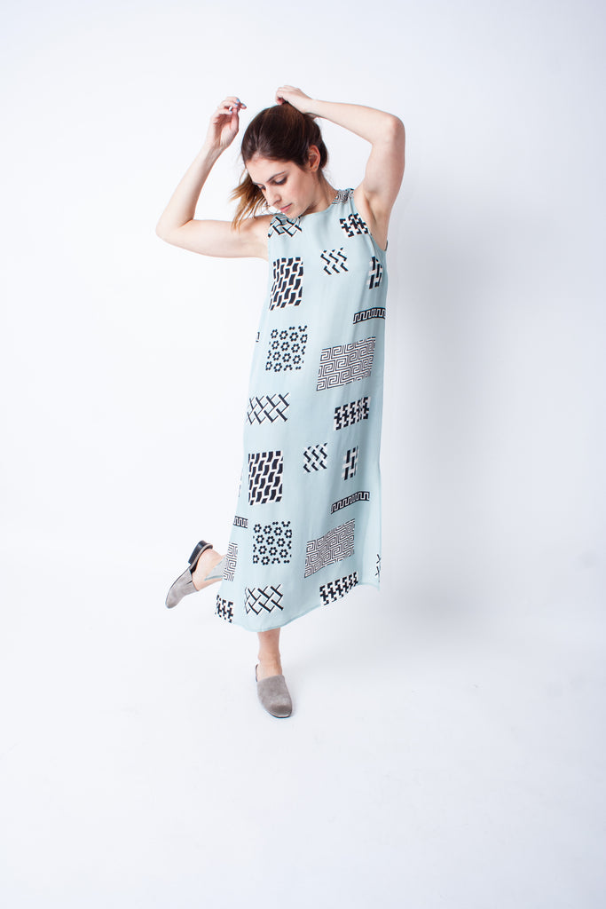 Jane Dress - Tile Print