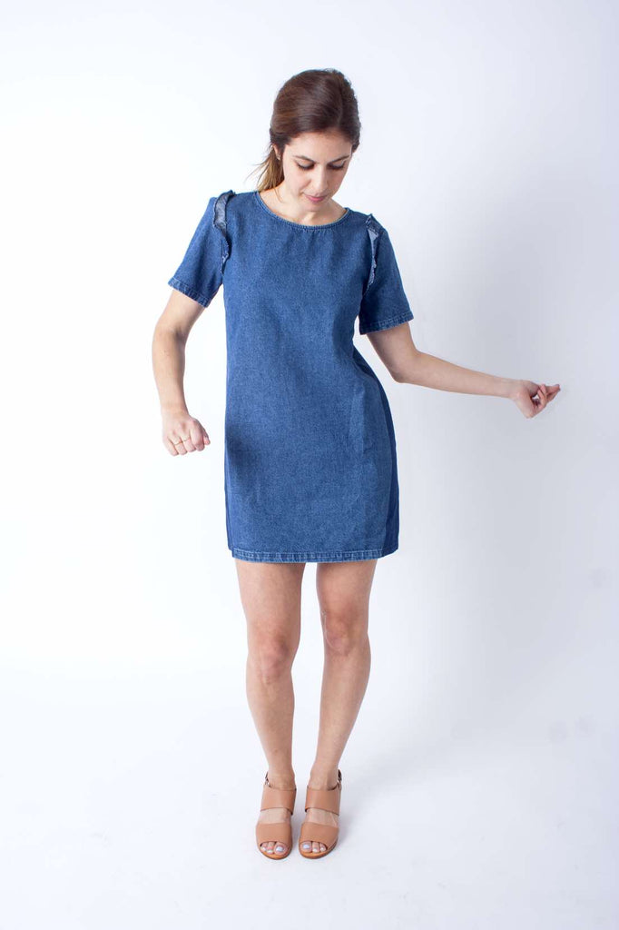 Alicia Dress (Petite) - Blue Denim