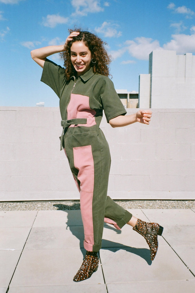 Rachel Comey Handy Coverall Jumpsuit - Jalapeño-Pink at STATURE | staturenyc.com