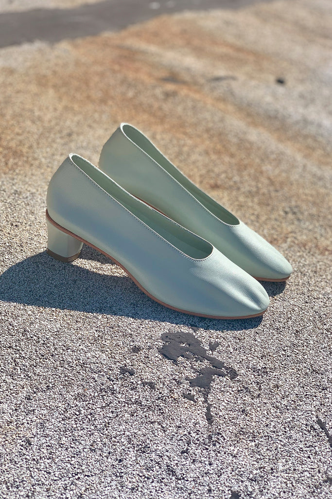 Martiniano High Glove Shoe - Sage Green at STATURE | staturenyc.com