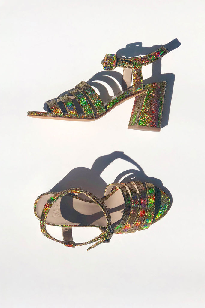 Maryam Nassir Zadeh MNZ High Palma Sandals - Gold Halo at STATURE | staturenyc.com