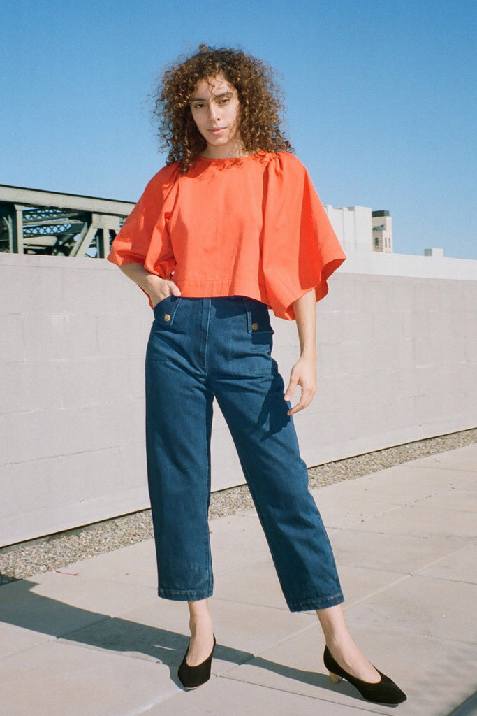 Ilana Kohn Iona Shirt in Pepper Orange at STATURE | staturenyc.com