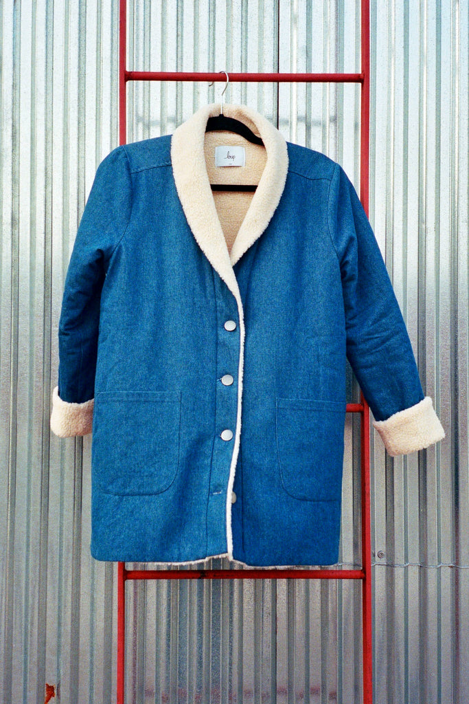 Loup NYC Jones Jacket (Petite Exclusive) - Indigo Denim at STATURE | staturenyc.com
