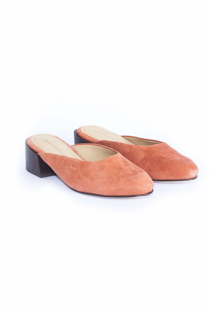 Leblon Mule - Orange Suede