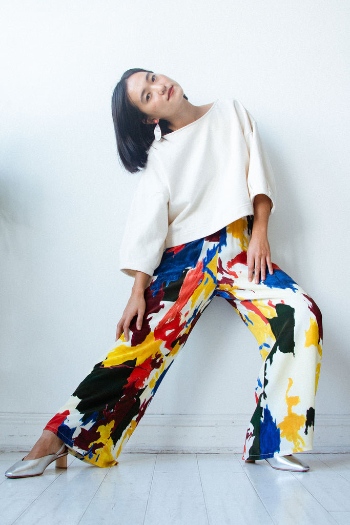 Wray - Luna Pant in Expressionist Print at STATURE | staturenyc.com