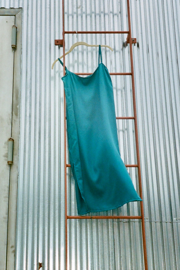 togethersegal - Marie Petite Slip Dress - Moroccan Blue at STATURE | staturenyc.com