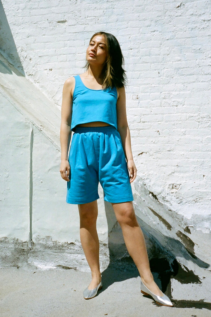 Ilana Kohn Nico Short - Blazzberry Blue Terry at STATURE | staturenyc.com