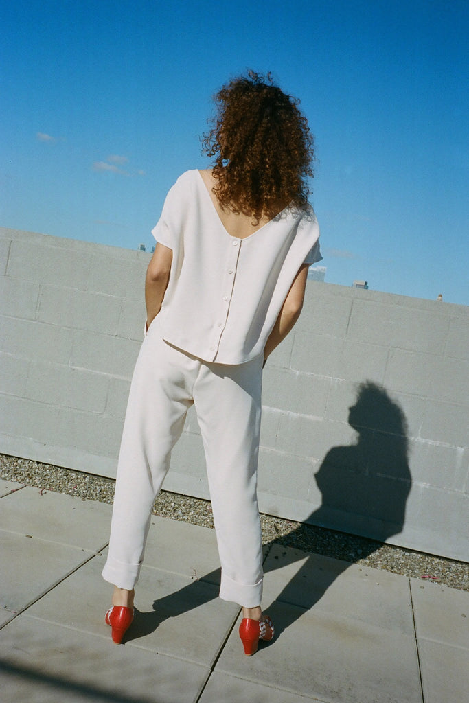 Rachel Comey - Paloma Jumpsuit - Off-White at STATURE | staturenyc.com