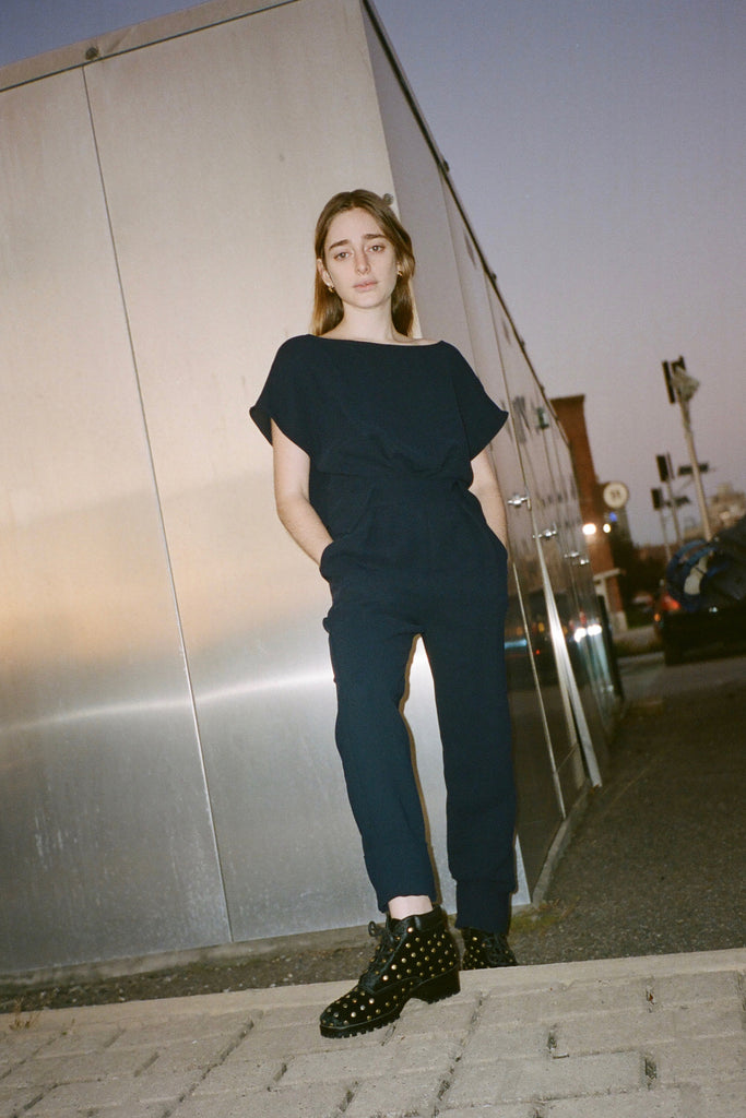 Rachel Comey - Paloma Jumpsuit - Navy at STATURE | staturenyc.com