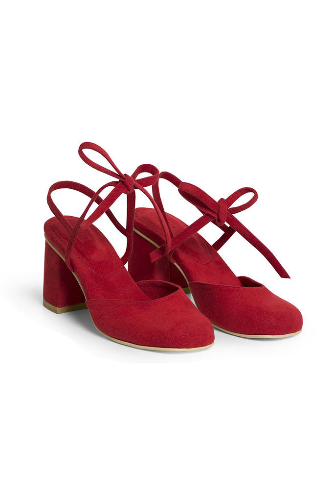 Rafa Holiday Heel in Ruby Red