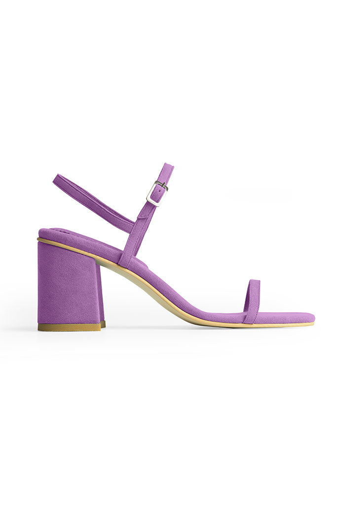Rafa Simple Sandal Made to Order at Stature in sizes 4-7 - Heliotrope