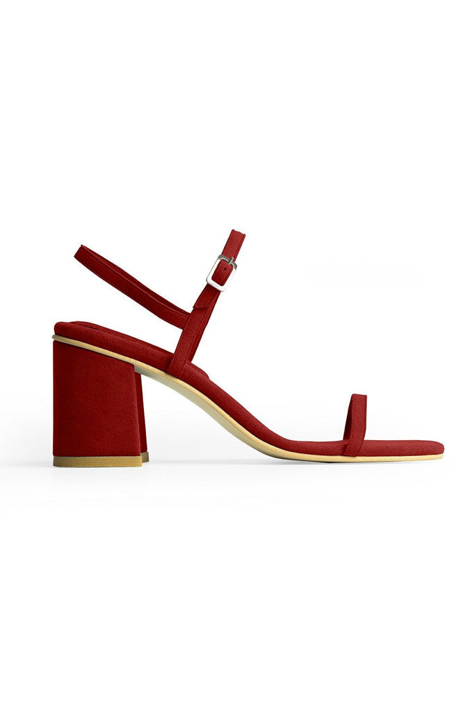 Rafa Simple Sandal Made to Order at Stature in sizes 4-7 - Ruby