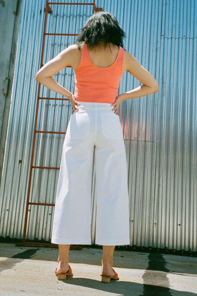 Loup Simone Petite Exclusive Jeans in White at STATURE | staturenyc.com