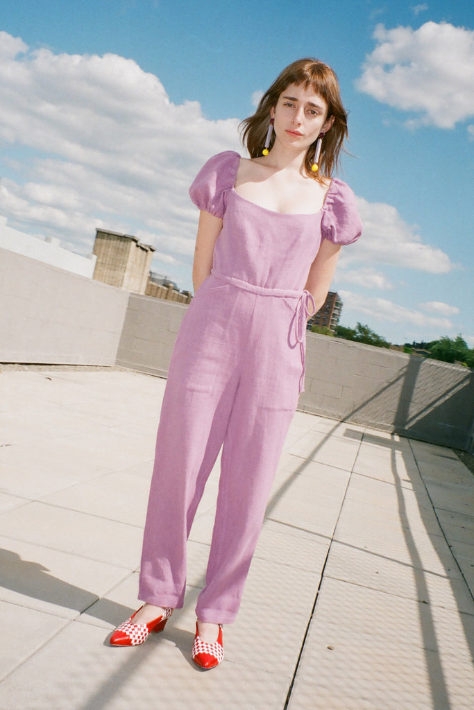 Samantha Pleet Siren Jumpsuit in Thistle at STATURE | staturenyc.com