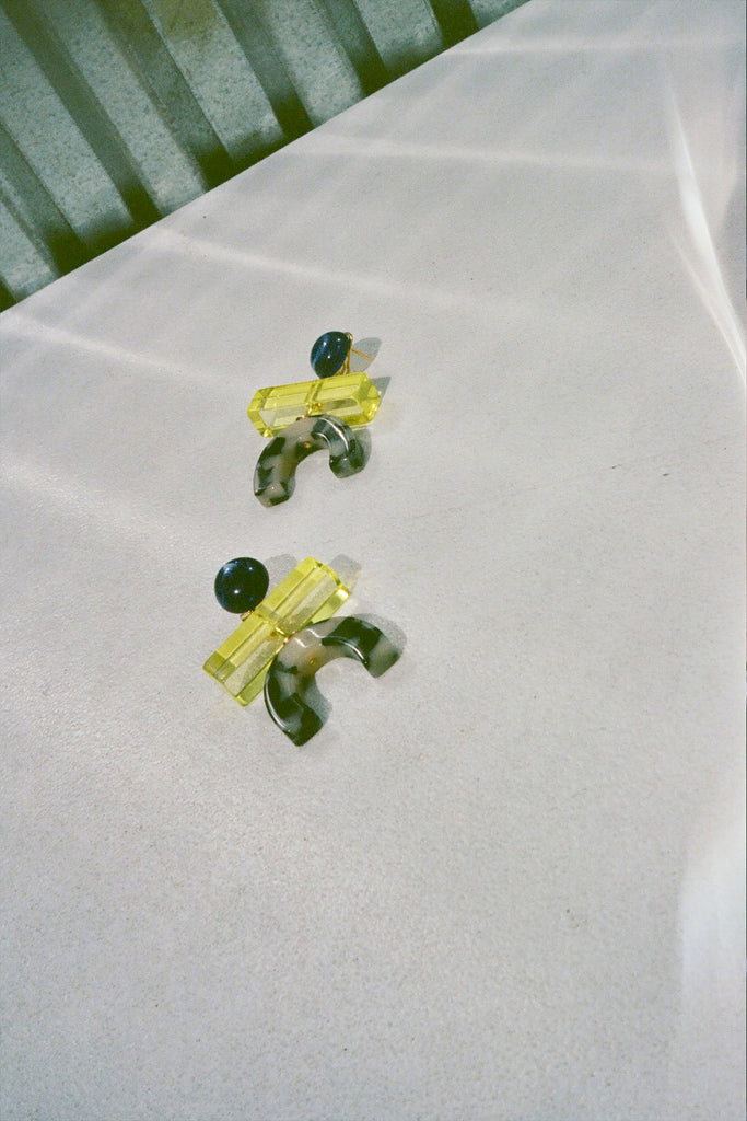 Rachel Comey Stroller Earring - Yellow-Dalmation at STATURE | staturenyc.com