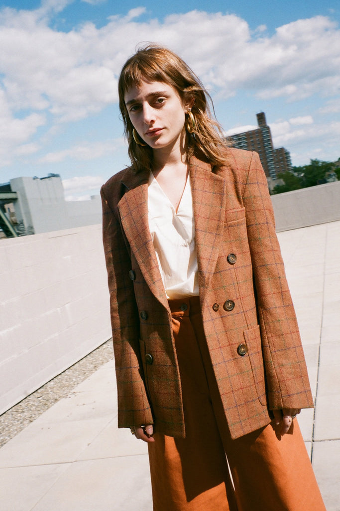 Rachel Antonoff Vivian Blazer in Whiskey at STATURE | staturenyc.com