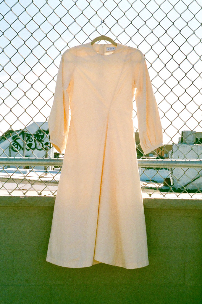 Wray Date Dress in Ivory Cotton Poplin at STATURE | staturenyc.com