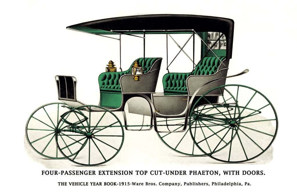 FOUR PASSENGER EXTENSION TOP CUT-UNDER PHAETON WITH DOORS