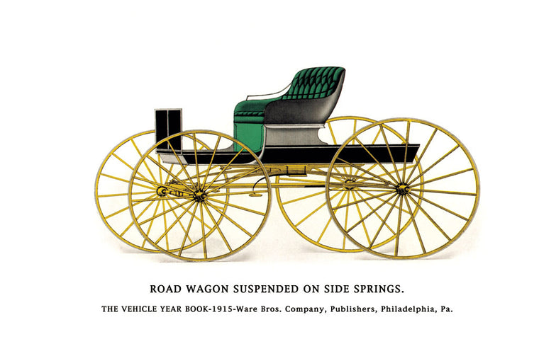 ROAD WAGON SUSPENDED ON SIDE SPRINGS