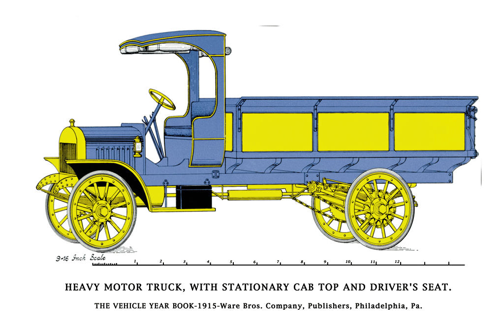 HEAVY MOTOR TRUCK - STATIONARY CAB, DRIVER'S SEAT