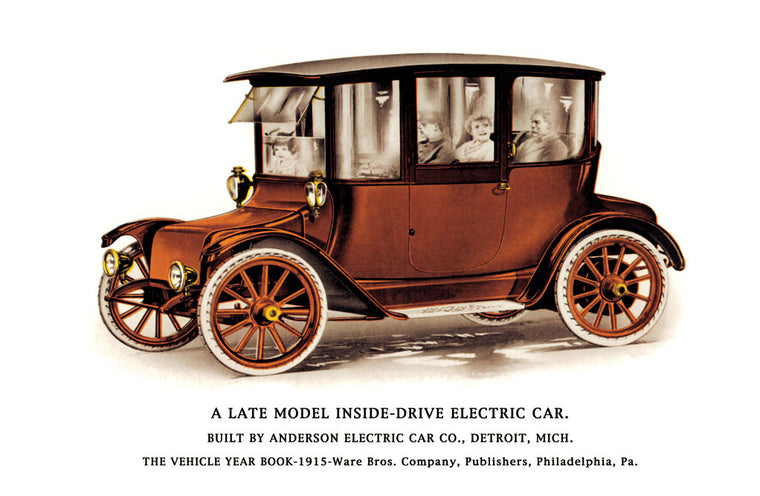LATE MODEL INSIDE-DRIVE ELECTRIC CAR
