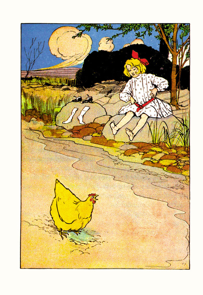 WIZARD OF OZ - DOROTHY AND HEN