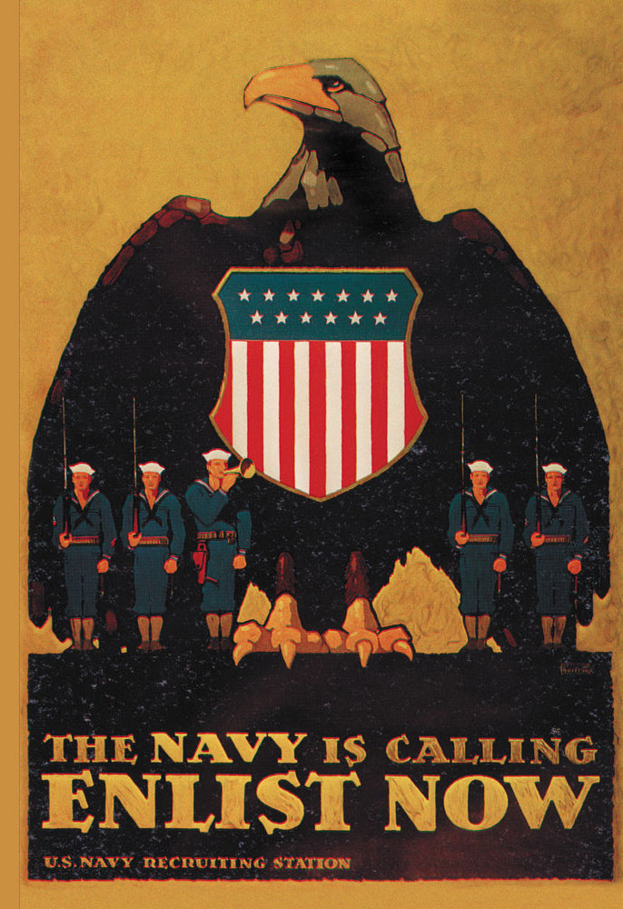 THE NAVY IS CALLING: ENLIST NOW