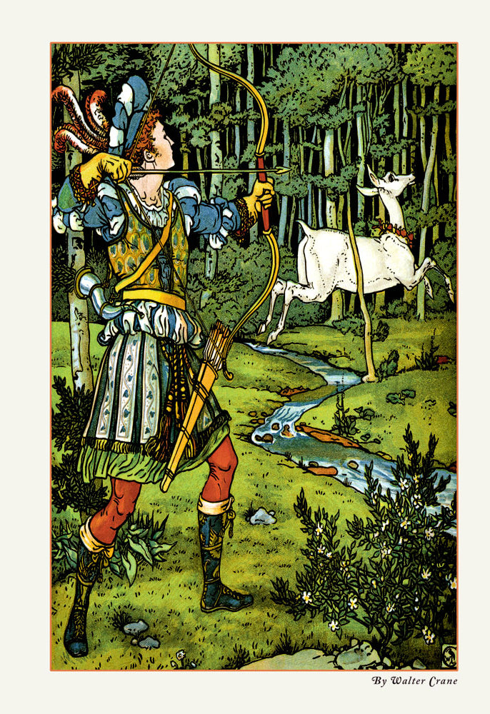 THE HIND IN THE WOOD - THE ARCHER