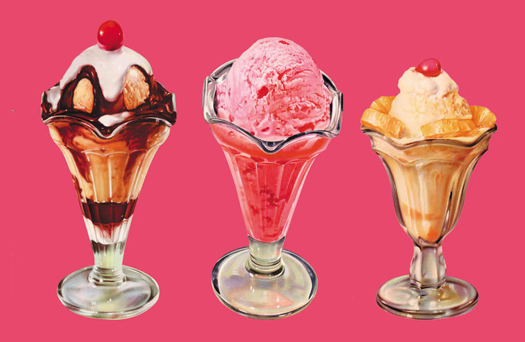 THREE SUNDAES