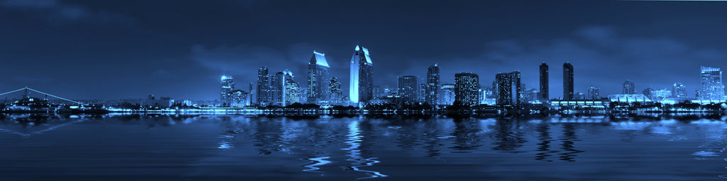 BLUE SKY SAN DIEGO AT NIGHT