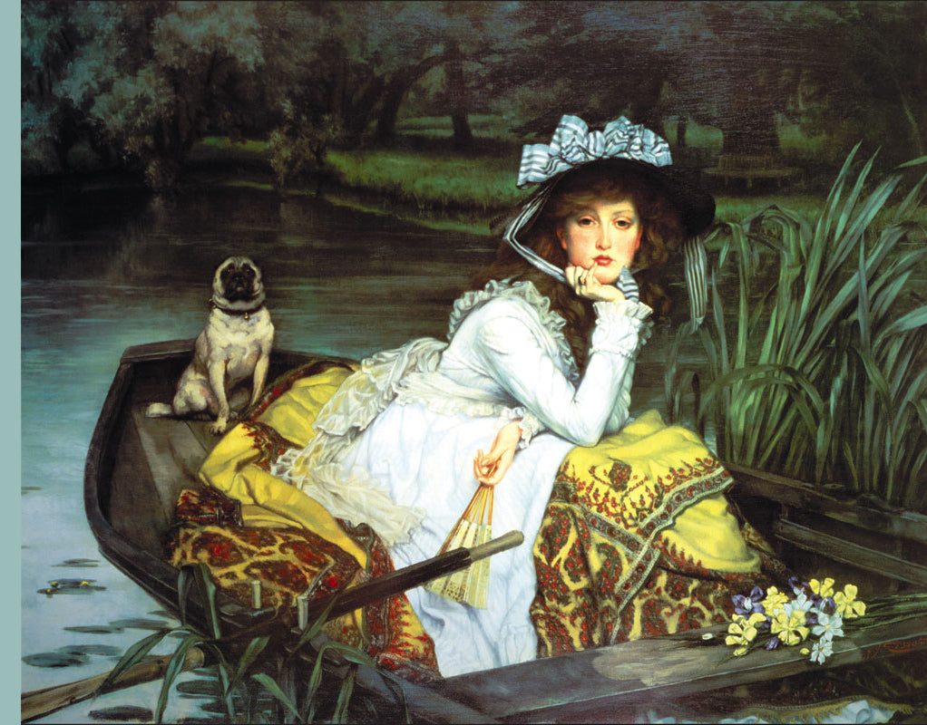 YOUNG WOMAN LOOKING IN A BOAT